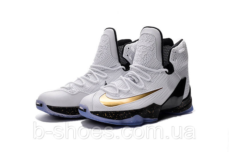 Мужские баскетбольные кроссовки Nike Lebron 13 Elite (White)