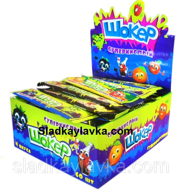 Жувальна цукерка Shockers Супер Кислий 60 шт (JJ Пакистан)