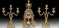 Набор Virtus .Часы настольные Biblo Pend + пара канделябров D.Juan на 3 свечи