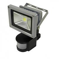 Светодиодный прожектор LEDEX 10W sensor, 800lm, 6500К холодный белый, 120º, IP65, TL12736, Eco