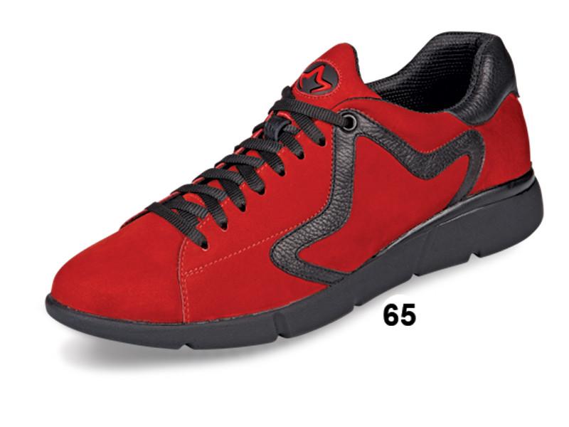 Кроссовки осенние мужские из натур. нубука МИДА 110073(65) красные.
