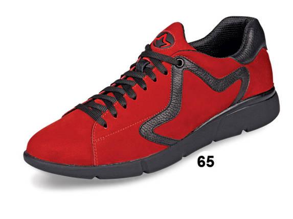 Кроссовки осенние мужские из натур. нубука МИДА 110073(65) красные., фото 2