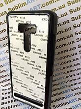 Чехол для 2D сублимации пластиковый на ASUS Zenfone Selfie черный
