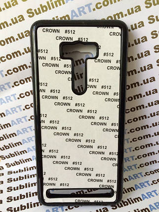 Чехол для 2D сублимации пластиковый на ASUS Zenfone Selfie черный, фото 2