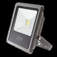 Светодиодный прожектор LEDEX 20W, 1300lm, 6500К холодный белый, 120º, IP65, ECO (slim)