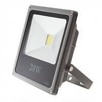 Светодиодный прожектор LEDEX 20W, 1600lm, 6500К холодный белый, 120º, IP65, Standard (slim)