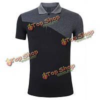 Мужская рубашка поло черно-серая