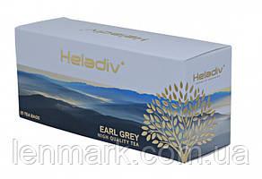 Черный чай Heladiv Earl Grey с ароматом бергамота 25 пакетиков