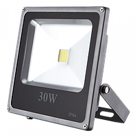 Светодиодный прожектор LEDEX 30W, 2400lm, 6500К холодный белый, 120º, IP65, Standard (slim)