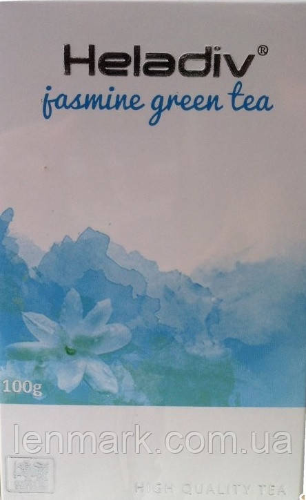 Зеленый чай Heladiv GREEN TEA JASMINE с ароматом жасмина, 100 г