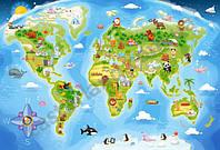 Пазл Карта мира 40 деталей maxi В-040117
