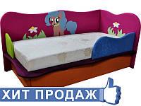 Детская кроватка с матрасом Пони 1 для девочек