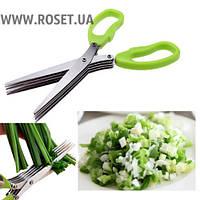Кухонные ножницы для нарезки зелени Shredder Scissors 5 лезвий
