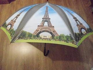 Зонт зонтик трость полуавтомат Эйфелева башня