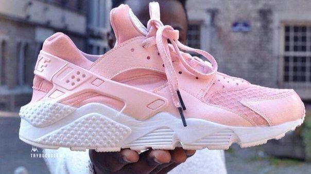 Кроссовки в стиле Nike Air Huarache Pretty Rose