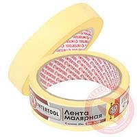 Лента малярная (крепп) желтая 30 мм х 20 м INTERTOOL DM-3020