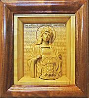 Икона деревянная резная Святой мученицы Вероники (Виринеи) Едесской