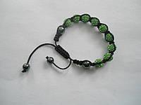 Браслет Шамбала цвет зеленый