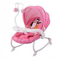 Шезлонг детский Bertoni DREAM TIME (pink penguin)