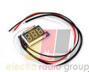 Вольтметр цифровой DV-36Green постоянного тока 0-200V (трех разрядный, зеленый, бескорпусной)