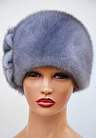 """Женская шапка норковая """"Шарик-Две Ромашки"""", фото 1"""