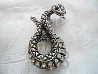 Брошь брошка Змея  Бр22