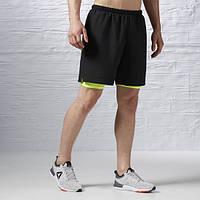 Мужские шорты спортивные Reebok ONE Series Running 2-in-1 Black AX9442