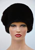 """Женская шапка норковая """"Шарик-листочки"""", фото 1"""