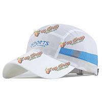 Унисекс полиэстер быстро сухой дышащий бейсболка напольного спорта регулируемые пряжки Snapback шляпа