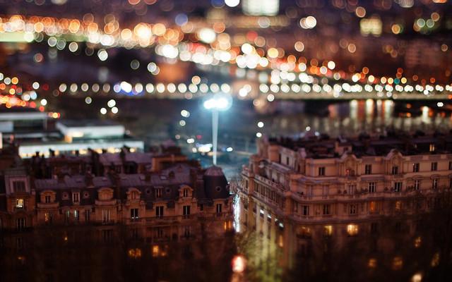 Размытое боке при съемке ночного города