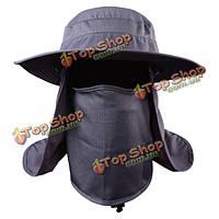 Унисекс мужчины женщины сетка из полиэстера уф-защиты ветрозащитной рыболовное колпачок на открытом воздухе колпачок шеи лицо шляпу