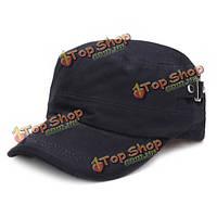 5 цветов унисекс Clear хлопка ткань плоские регулируемая крышка военно-спортивный шлем отдыха