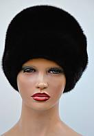 Норковая шапка женская Папаха пуговица, фото 1