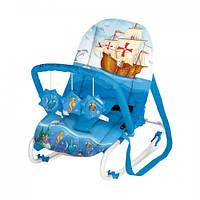 Шезлонг детский Bertoni TOP RELAX XL (blue ship)