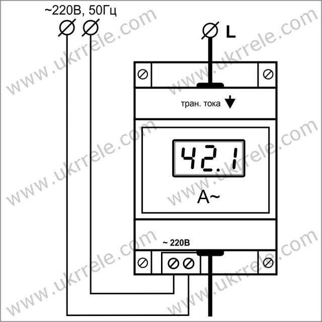 Амперметр цифровой AM-100/D01