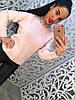 Свитер женский с бисером на воротничке, фото 3