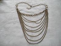 Многоуровневое ожерелье из цепочек О2