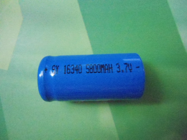 Аккумулятор Li-ion SY16340 5800mAh 3,7V(CR123) 2шт