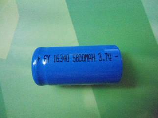 Аккумулятор Li-ion SY16340 5800mAh 3,7V(CR123)