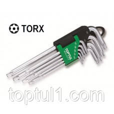 Набор TORX длинных с отверстием TOPTUL GAAL0919  9 ед. T10-T50