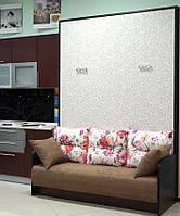 Белая шкаф-кровать с диваном, фото 1
