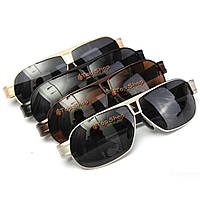 Мужчины uv400 поляризовали солнцезащитные очки наружный металлический каркас ведущие очки