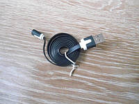 Шнур USB micro USB плоский провод переходник