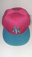 "Рэперская кепка ""NY blue-pink"""