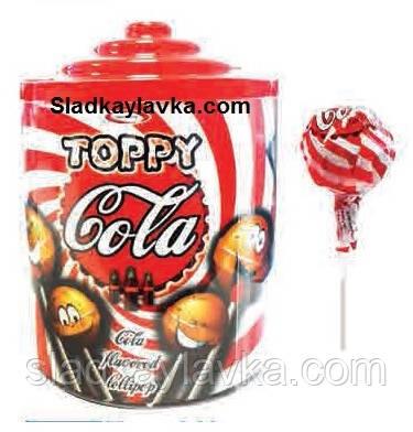 Леденцы на палочке Toppy Cola 120 шт (Saturn)