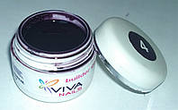 Цветной гель Viva nails №04 тёмно-фиолетовый