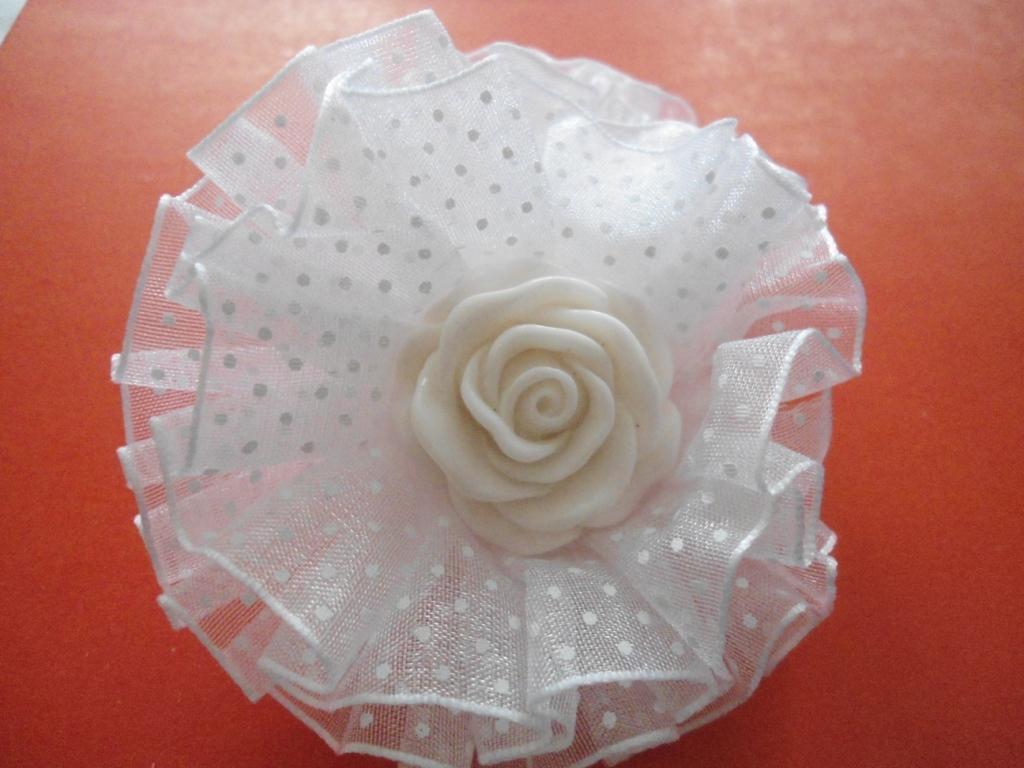 Резинка для волос Бантик с розочкой, 2штуки Р2
