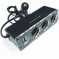 Автомобильный тройник WF- 0096 + USB