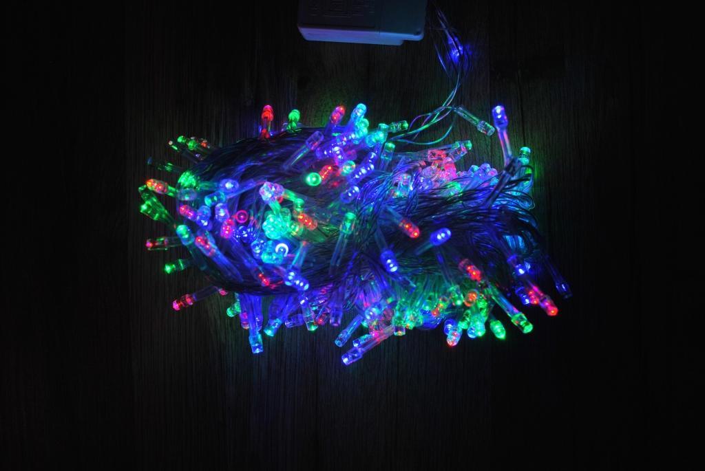 Гирлянда LED светодиодная 100 лампочек Mix+ Елочки