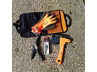 Набор топор Fiskars Х5 + нож + блесна